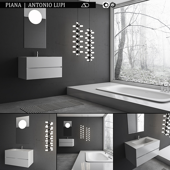 Bathroom furniture set Piana - 3DOcean Item for Sale