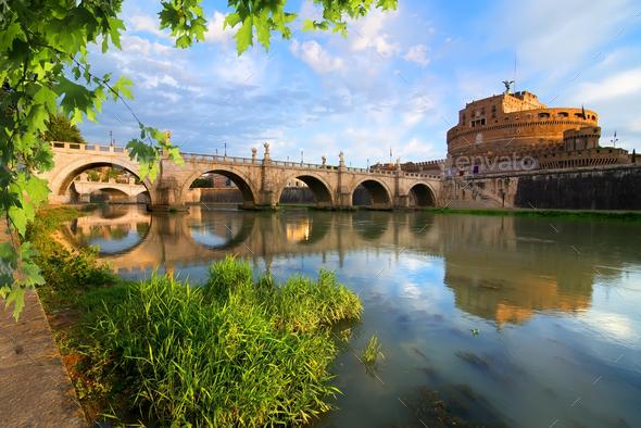 Italian bridge of Saint Angelo - Stock Photo - Images