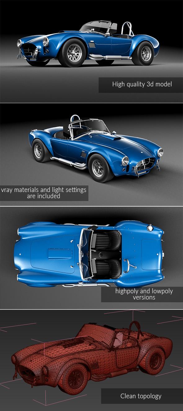 Shelby Cobra 427SC - 3DOcean Item for Sale