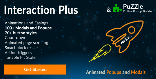 Popup and Modal JS plugin + Builder - Interaction Plus - CodeCanyon Item for Sale