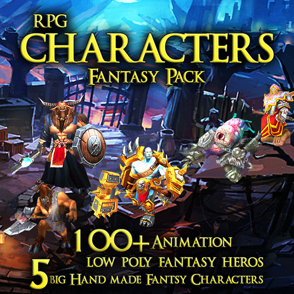 RPG Characters Fantasy Pack - 3DOcean Item for Sale