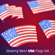 Glowing Neon USA Flags Set - GraphicRiver Item for Sale