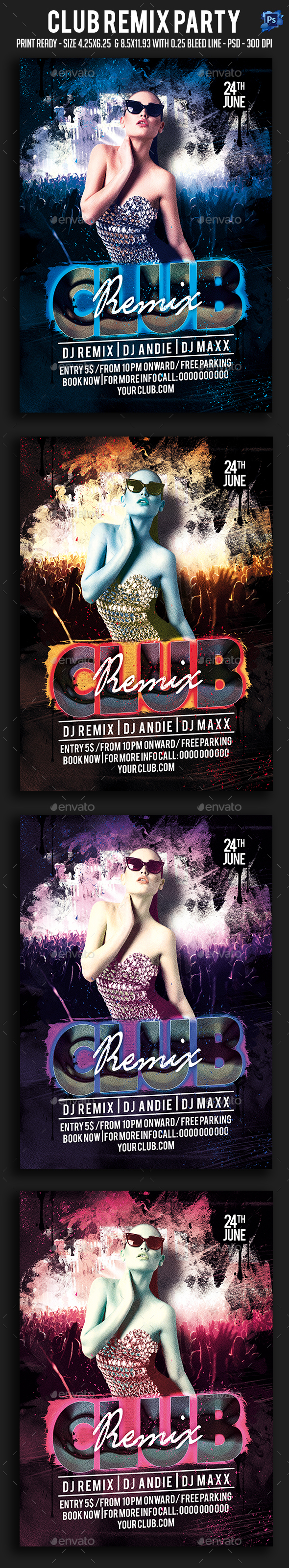 Club Remix Party Flyer - Clubs & Parties Events