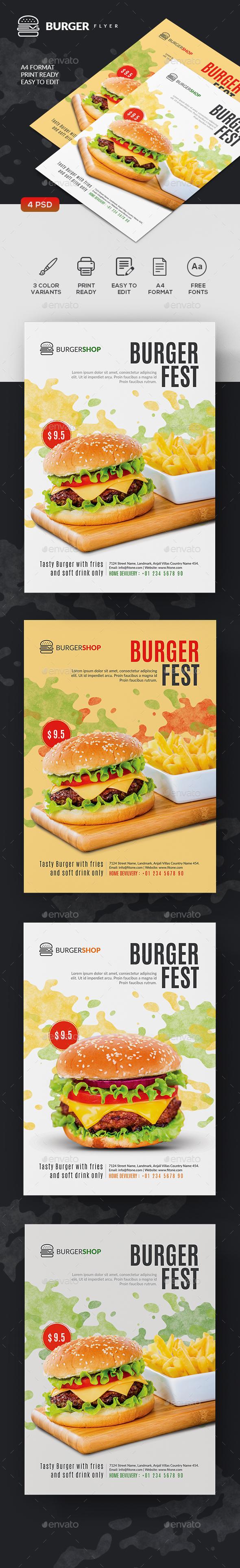 Burger Flyer Templates - Restaurant Flyers