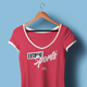 Female V-Neck T-shirt Mock-up - GraphicRiver Item for Sale
