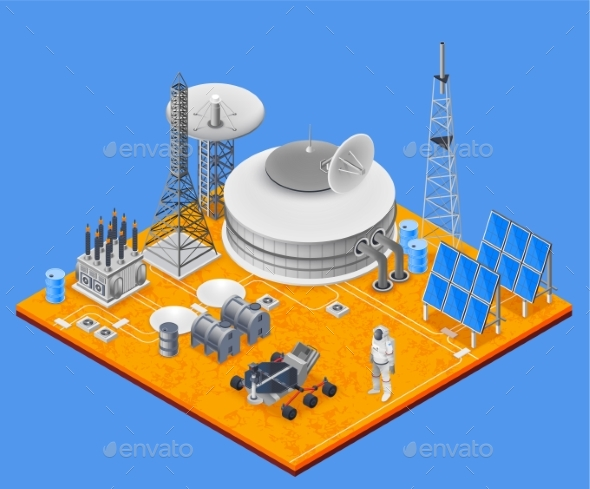 Space Station Isometric Concept - Technology Conceptual