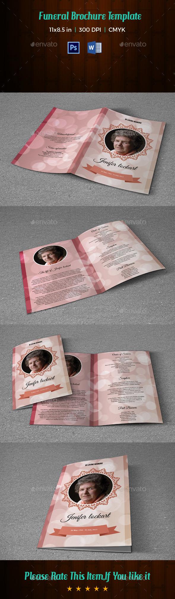 Funeral Program Template-V169 - Informational Brochures