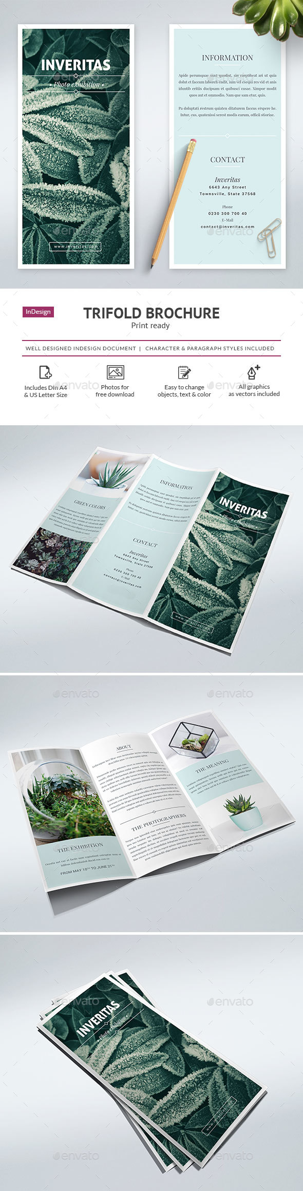 Clean Trifold Brochure Vol. 1 - Corporate Brochures