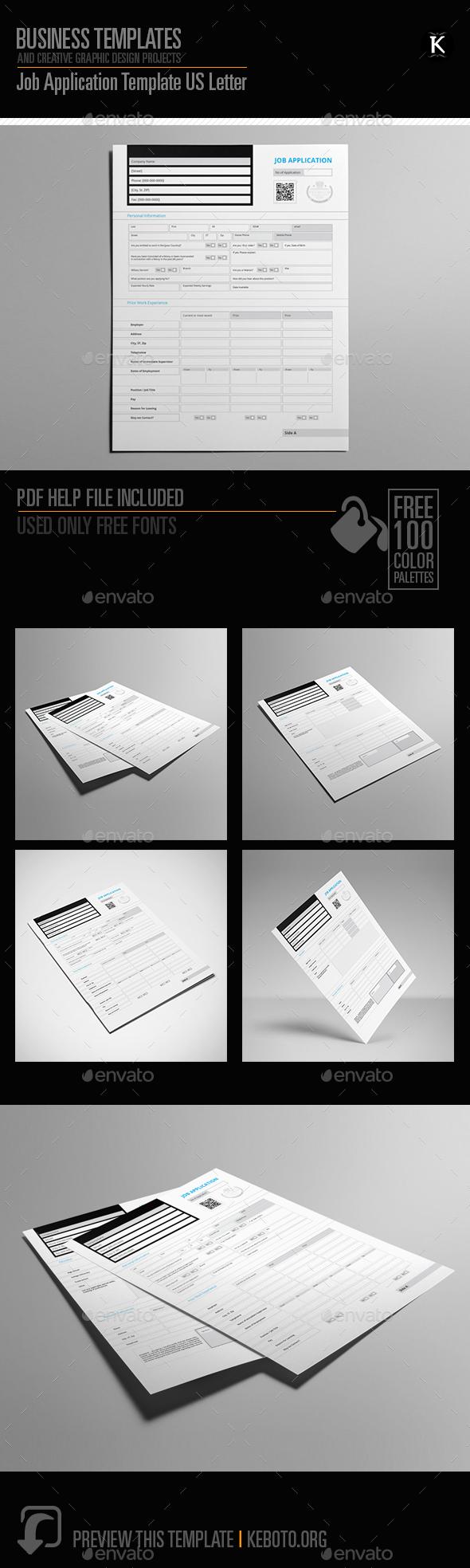 InDesign Job Application Graphics, Designs & Templates