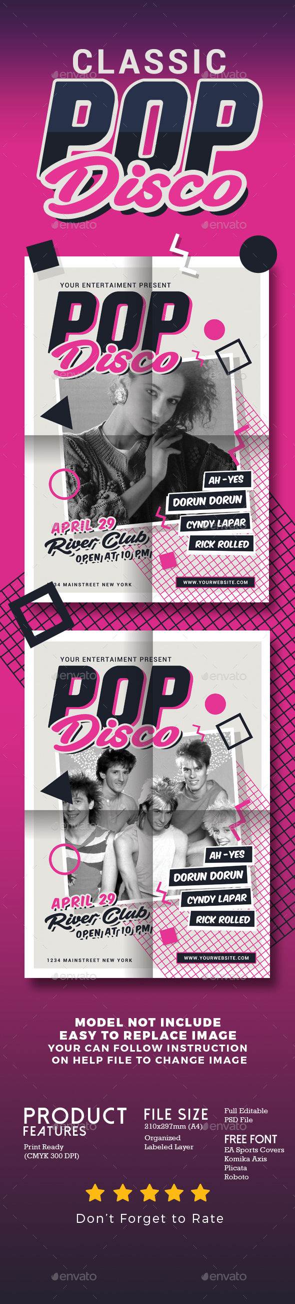Classic Pop Disco - Events Flyers
