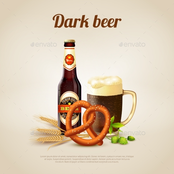 Dark Beer Background - Food Objects