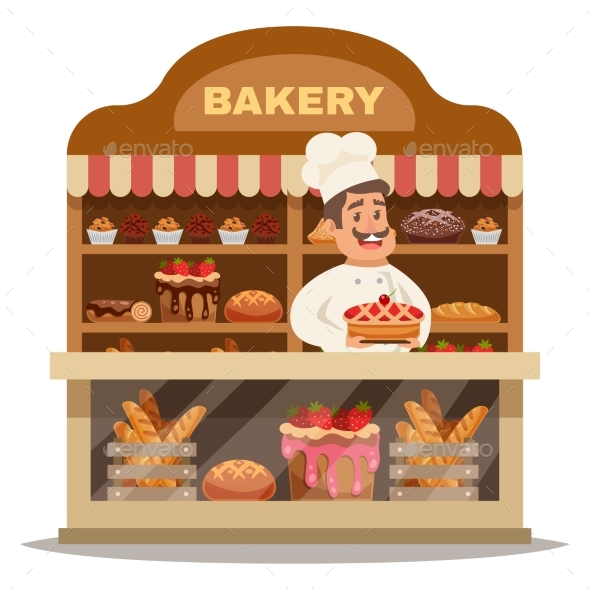 Bakery Shop Design Concept - Miscellaneous Vectors