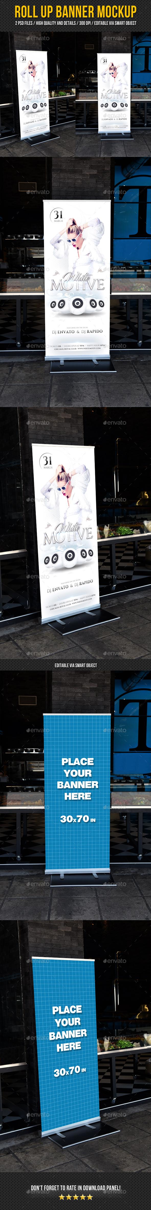 Roll Up Banner Mockup V2 - Signage Print