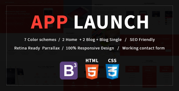 App Launch - App Landing Page HTML5 Template
