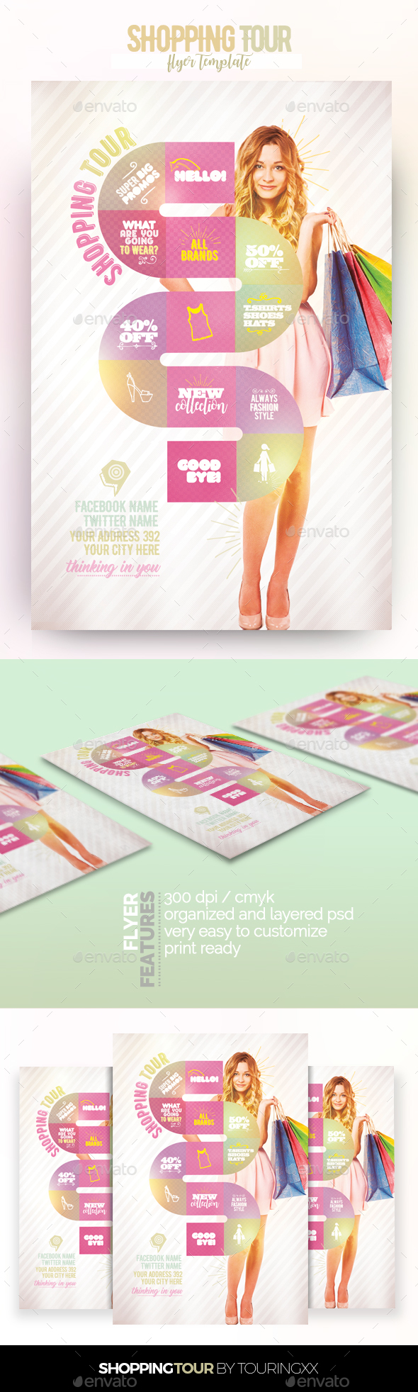 Shopping Tour Flyer Template - Flyers Print Templates
