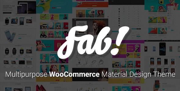 FAB! - Material Design WooCommerce WordPress Theme - WooCommerce eCommerce