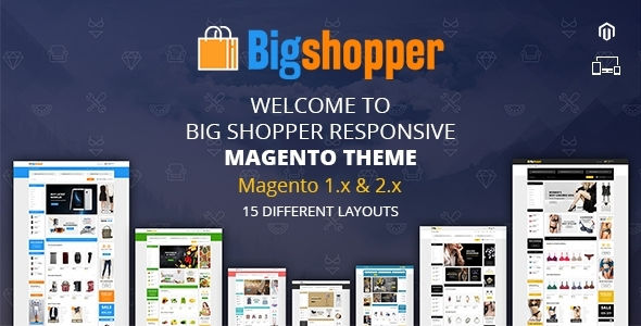 BigShopper - Multipurpose Magento 1 & 2 Theme