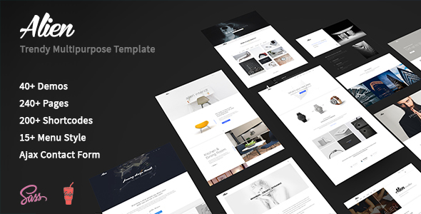 Alien – Trendy Multipurpose Template