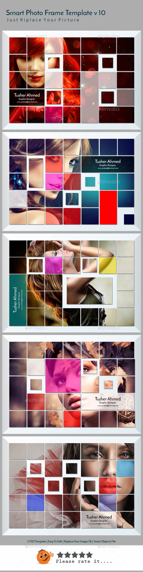 Smart Photo Frame Template v10 - Photo Templates Graphics