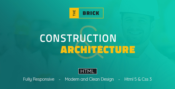 The Brick Architechture & Construction - HTML Template - Business Corporate