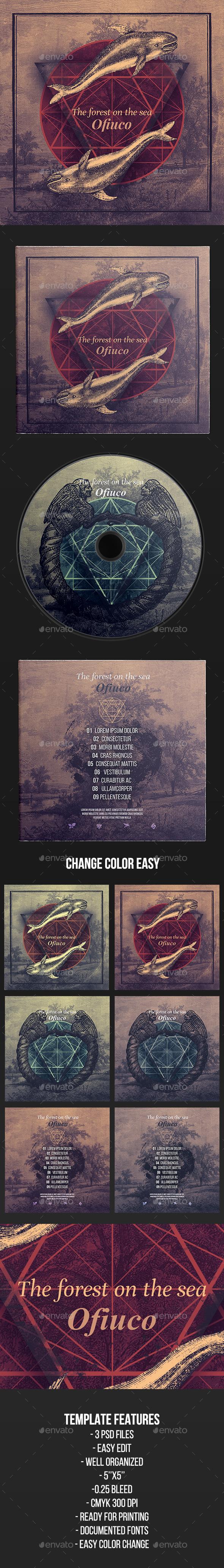 Ofiuco - CD Cover Artwork Template - CD & DVD Artwork Print Templates