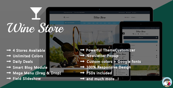 Wine Store – Vineyard Responsive Prestashop Theme