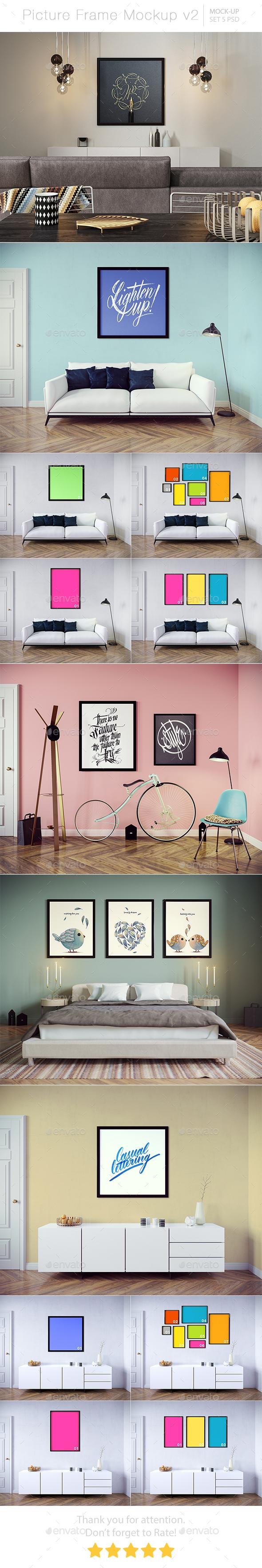 Picture Frame Mockup v2 - Posters Print