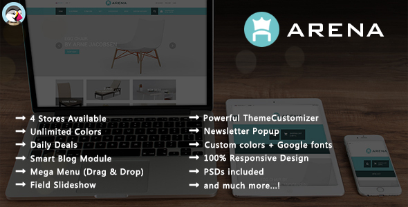 Arena – Furniture Responsive Prestashop Theme