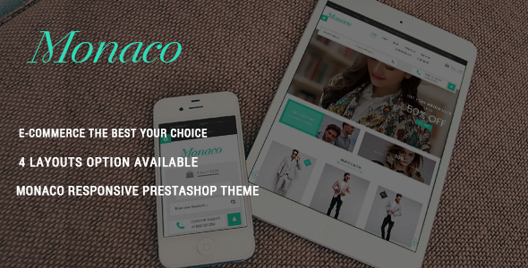 Monaco – Fashion Responsive Prestashop Theme