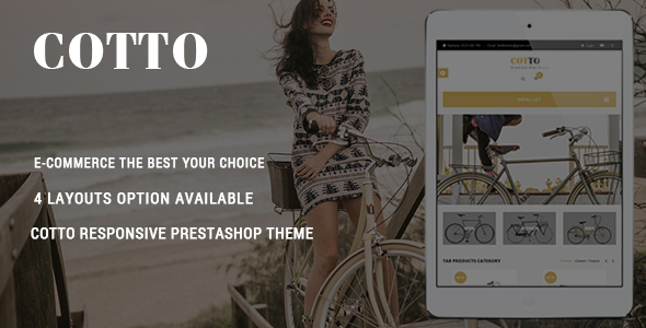 Cotto – Bike Store Responsive Prestashop Theme