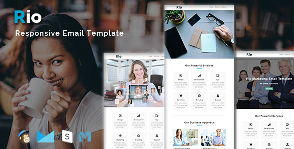 Image of RIO - Multipurpose Responsive Email Template With Stamp Ready Builder Access