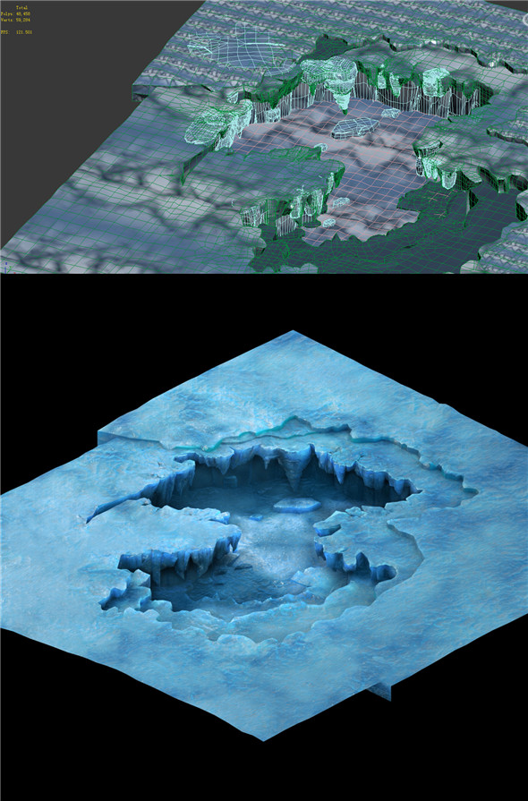 Game Model - snow - the ice puddle 01 - 3DOcean Item for Sale