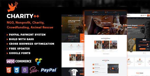 Charity Plus - Nonprofit, Crowdfunding & Charity WP Theme