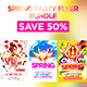 Spring Party Flyer Bundle
