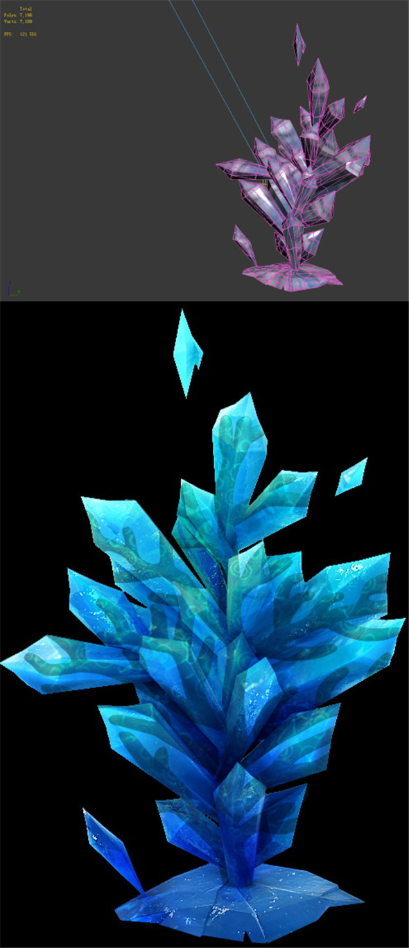 Game Model - snow - the ice spar Coral 03 01 - 3DOcean Item for Sale