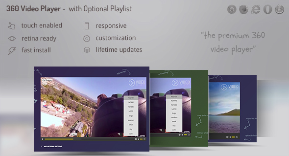 360 Video Player Premium - with Quality changer and Playlist DZS - CodeCanyon Item for Sale