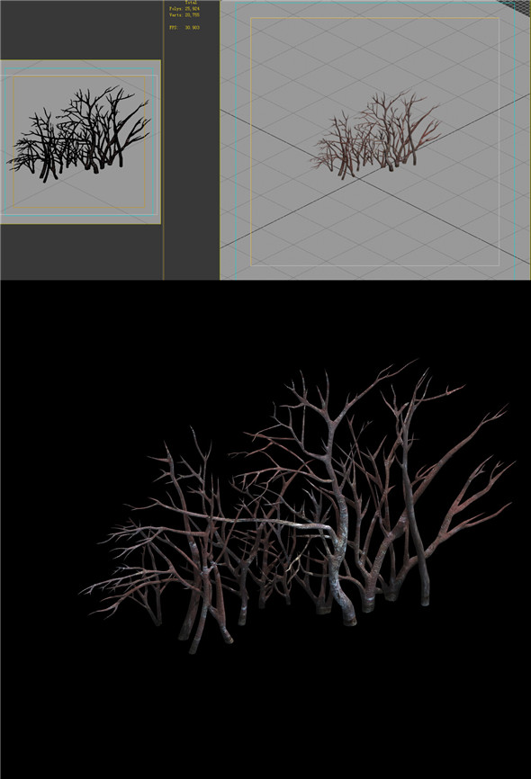 Game Model - snow - vegetation 01 - 3DOcean Item for Sale
