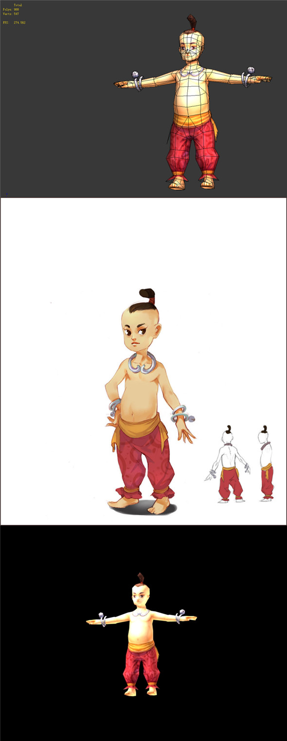 Game Model - Taoist comprehension characters - boy 01 - 3DOcean Item for Sale