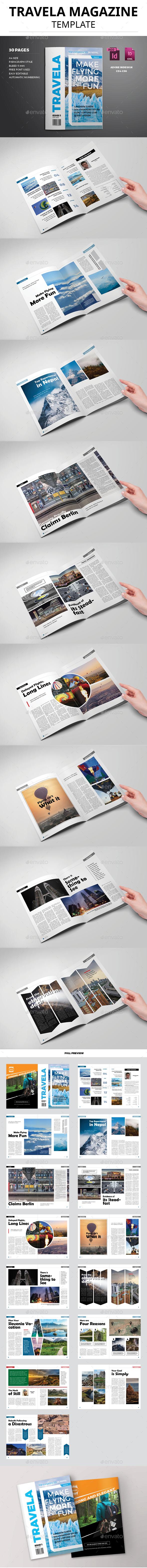 Travela Magazine Template - Magazines Print Templates