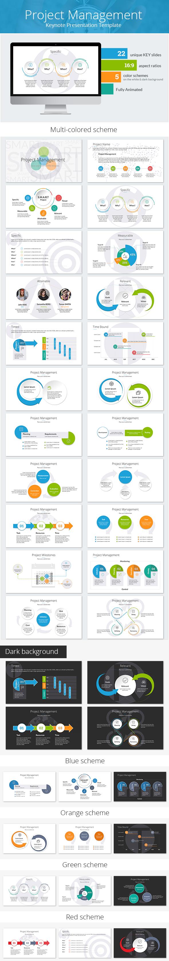Project Management Keynote Presentation Template - Keynote Templates Presentation Templates