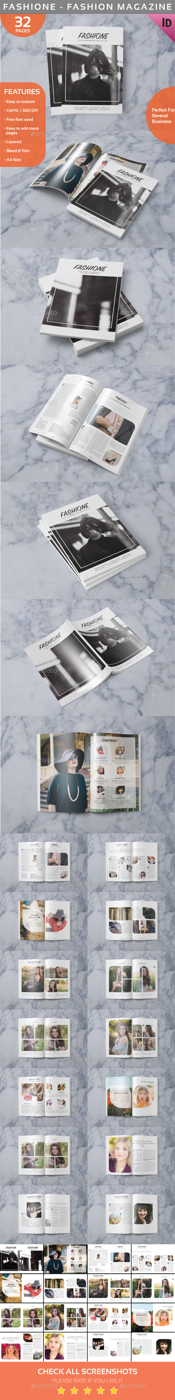 Fashione - Indesign Fashion Magazine Template - Magazines Print Templates
