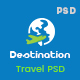 Destination - Hotels, Tours and Travel Booking PSD Template Nulled