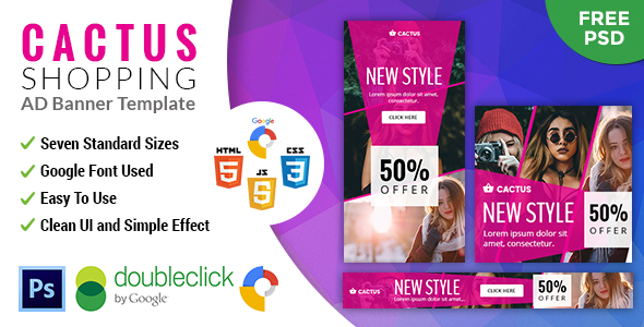 Cactus | Shopping HTML 5 Animated Google Banner - CodeCanyon Item for Sale