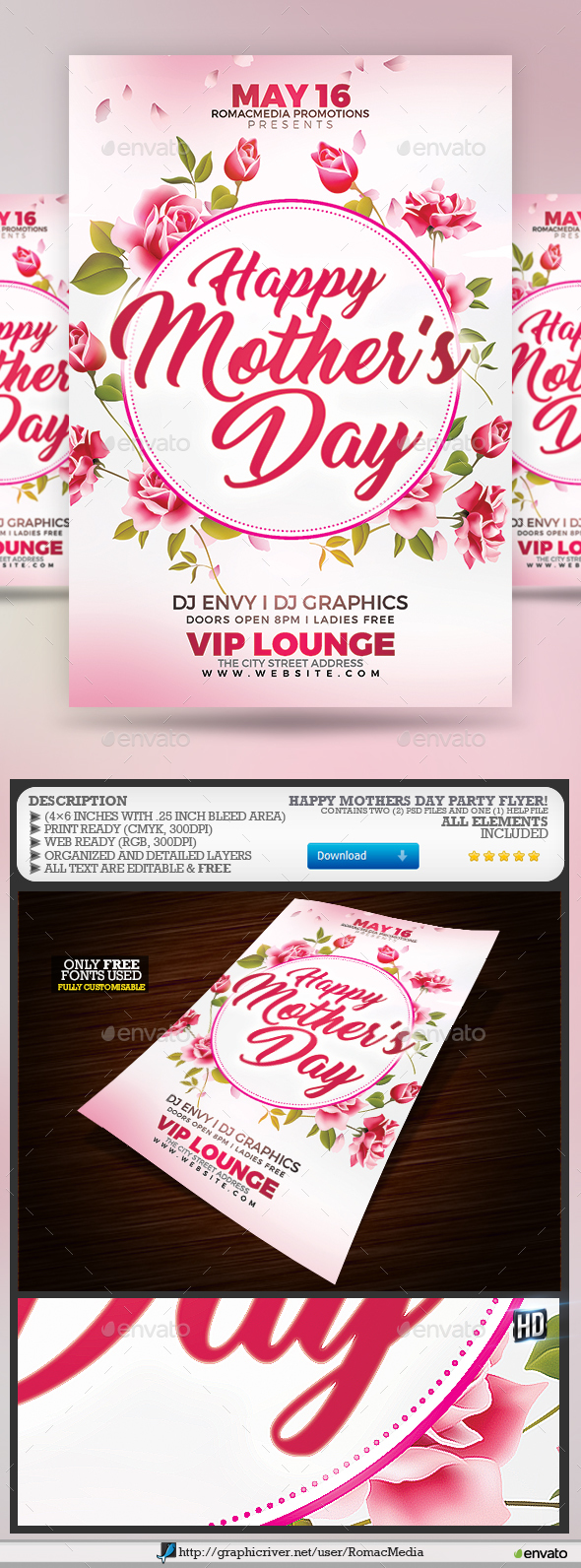 Mother's Day Party Flyer - Clubs & Parties Events