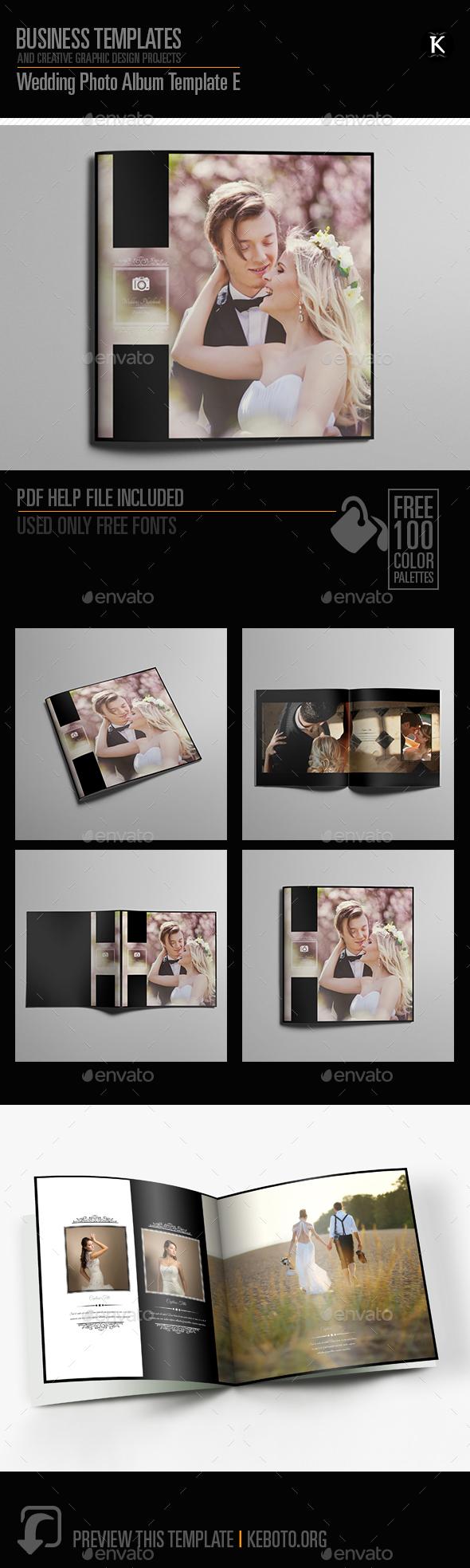Wedding Photo Album Template E By Keboto Graphicriver