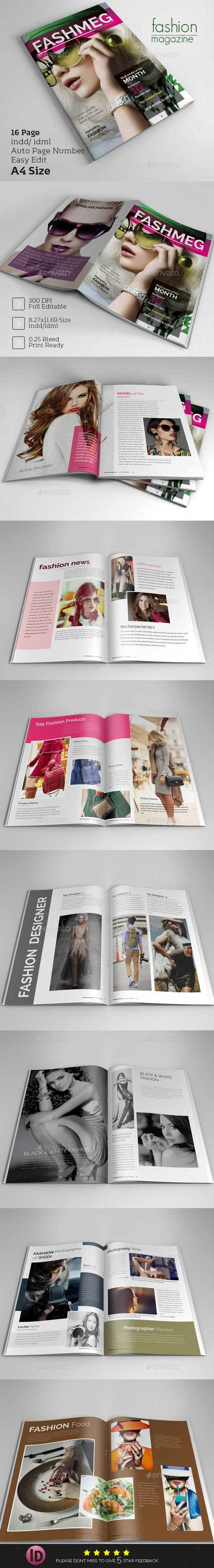 Fashion Magazine Design Template - Magazines Print Templates