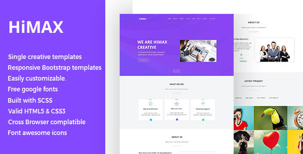 Himax – Single Page HTML Template