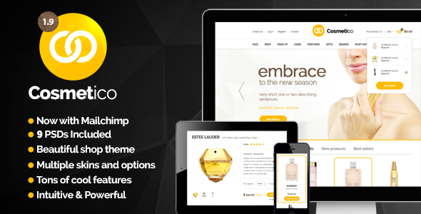 Cosmetico - Responsive eCommerce WordPress Theme