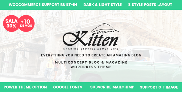 Kitten - Multi-Concept Elegant WordPress Blog Theme - Personal Blog / Magazine