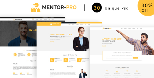 Mentor-pro | Ultimate  PSD Template